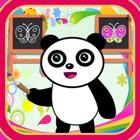 Panda sketch and drawing icon