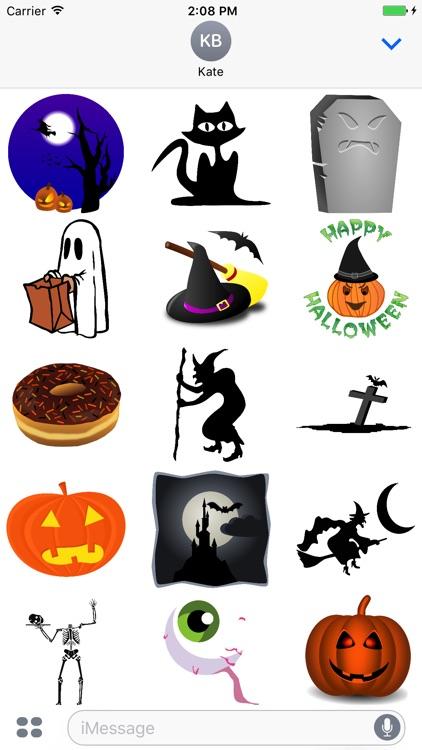 Spooky Halloween Stickers - Boo!