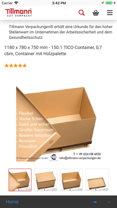 tillmann verpackungen on the app store itunes apple. Black Bedroom Furniture Sets. Home Design Ideas
