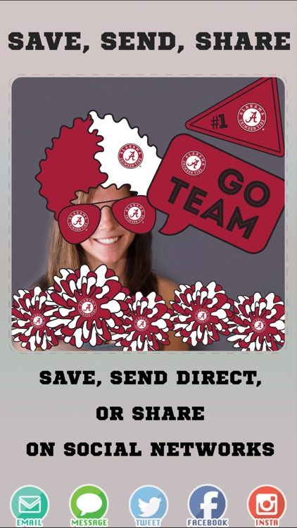 Alabama Crimson Tide Pro Photo Booth Stickers screenshot-3