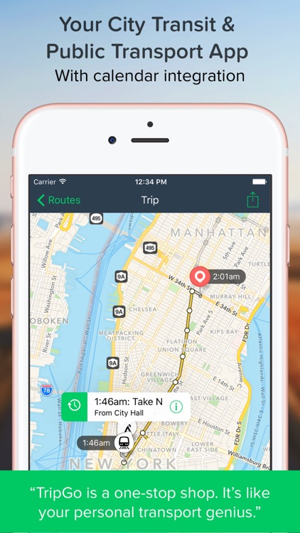 TripGo: All your transport modes, in real-time