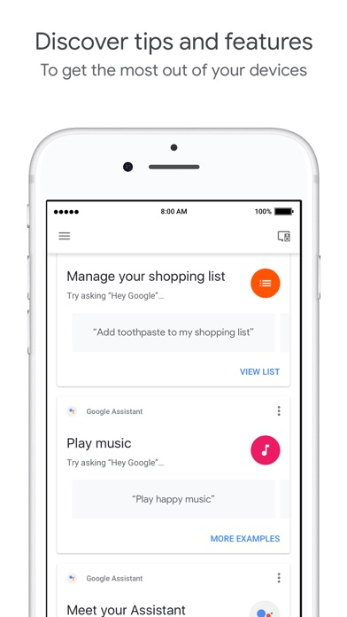 download Google Home apps 6