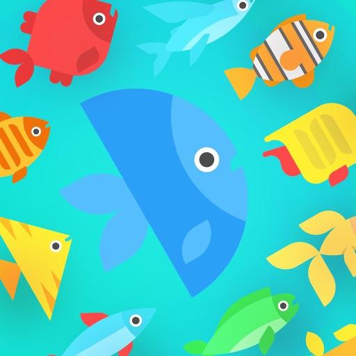 Go Merge Fish! Terrarium Game Icon