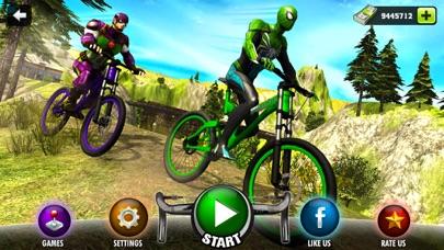 Offroad Superhero Bicycle Race screenshot one