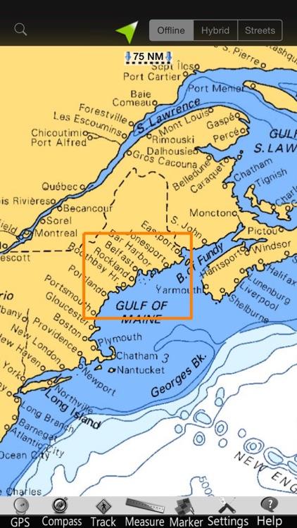 Maine GPS Nautical Charts screenshot-4