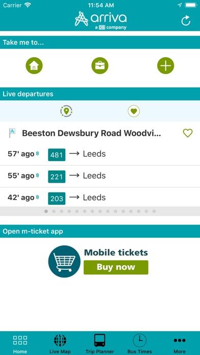 Arriva UK Bus App for Windows