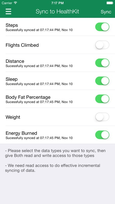 Screenshot #3 for Data Manager for Fitbit