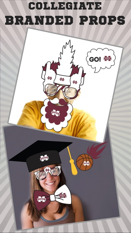 Mississippi St Bulldogs PLUS Selfie Stickers