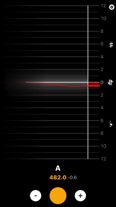 BeeFlat Bagpipe Tuner screenshot one