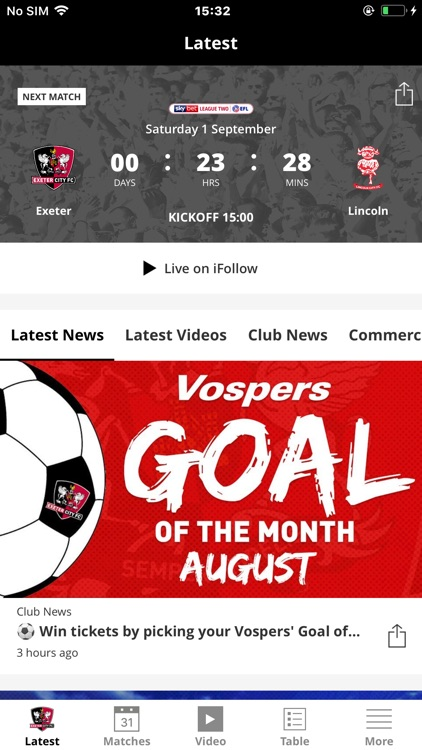 Exeter City Official App