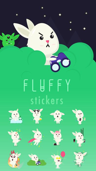 Fluffy - kawaii bunny stickersScreenshot of 1