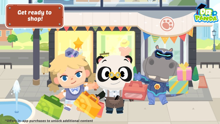 Dr. Panda Town: Mall screenshot-0