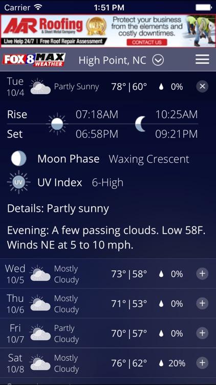 Fox8 Max Weather screenshot-3