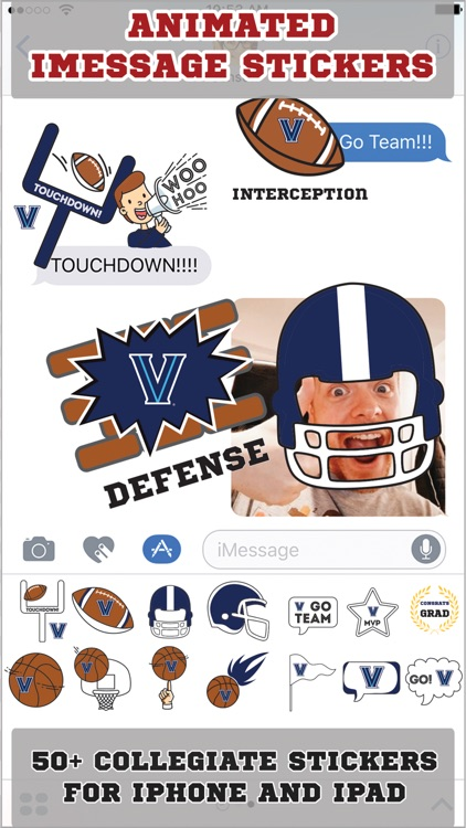 Villanova Wildcats Animated+Stickers for iMessage