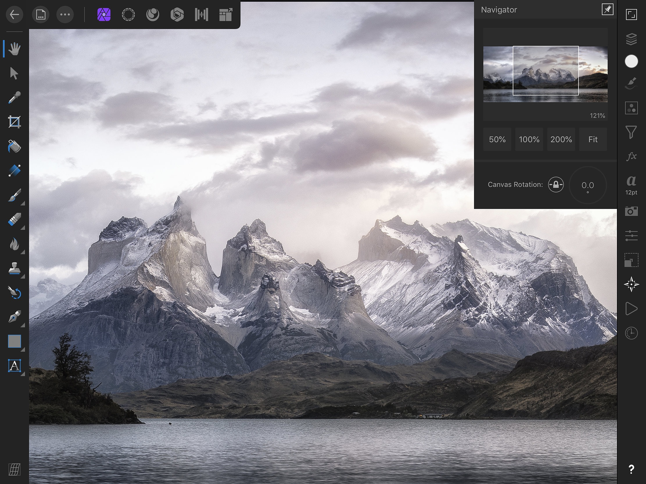 Screenshot do app Affinity Photo