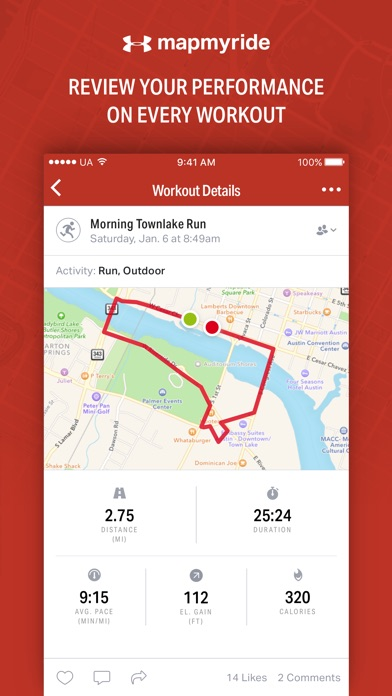 Map My Ride by Under Armour app image