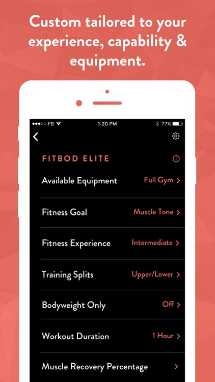 Fitbod Weight Lifting Tracker screenshot-4