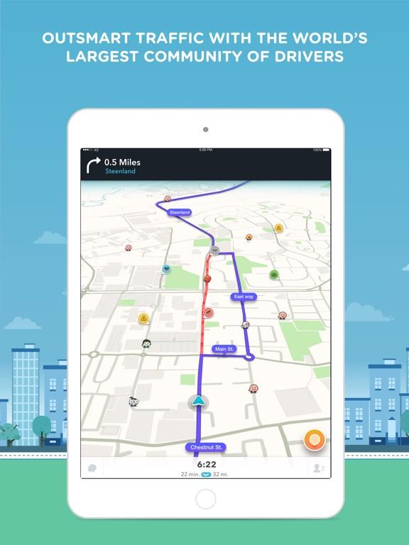Screenshot #1 for Waze Navigation & Live Traffic