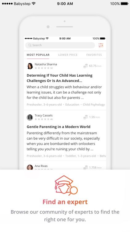 Discover & call baby, child, and parenting experts