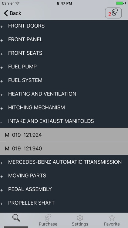 Mercedes parts and diagrams screenshot-2