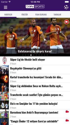 beIN SPORTS TR Screenshot