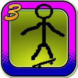 Stick-man Paper Skateboarding Extreme Game 3