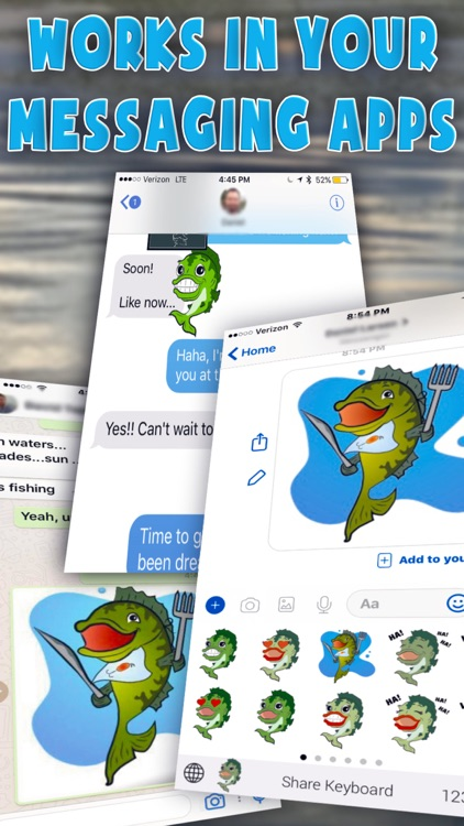 Bass fishing emoji stickers by daniel larsen for Bass fishing apps