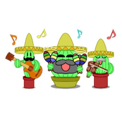 Mexico Cactus Music Band Emoji