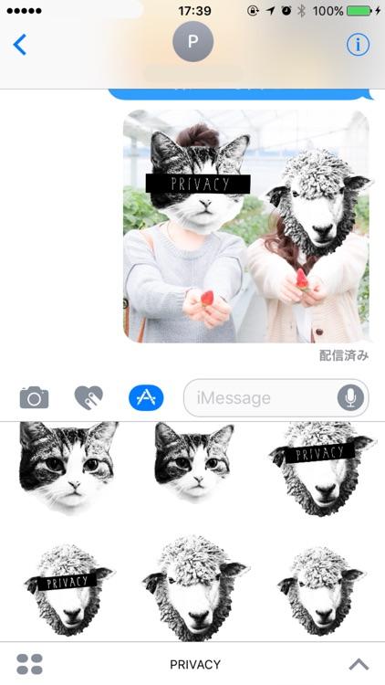 PRIVACY - 写真にかわいい動物のマスクや色々なモザイクを合成して遊べる