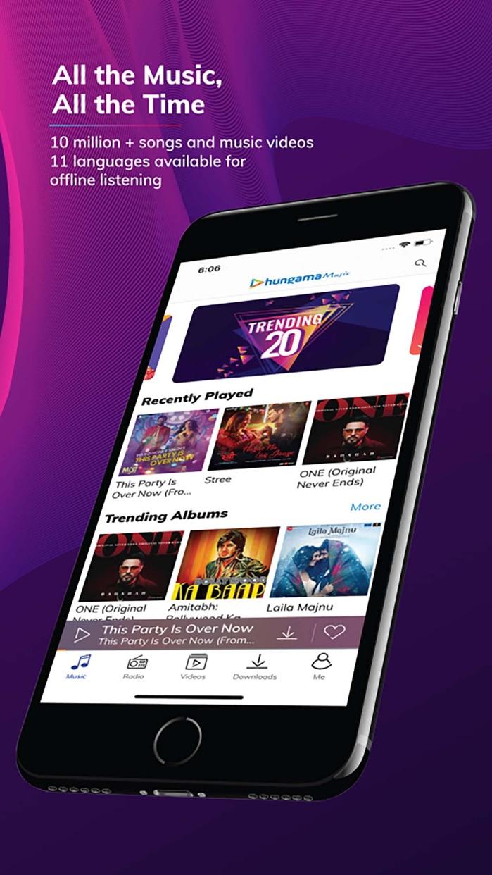 Hungama Music - Songs & Radio Screenshot