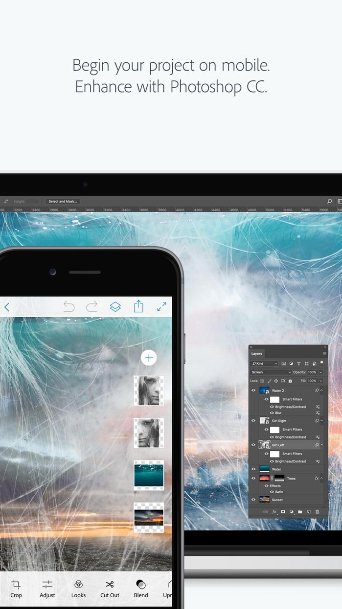 Adobe Photoshop Mix - Cut out, combine, create Screenshot