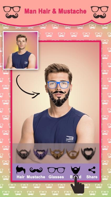 Men Hair Style Mustache Photo Editor screenshot-3