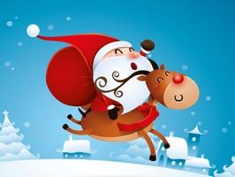 Animated Xmas Santa Stickers
