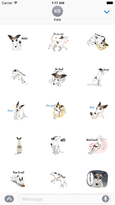 Snap Dog - Whippetmoji Sticker screenshot 1