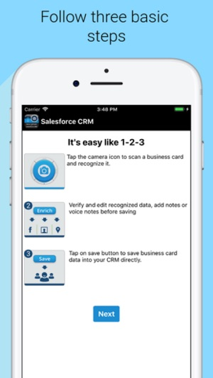 Biz card reader for salesforce on the app store screenshots reheart Gallery