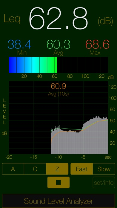Sound Level Analyzer Lite Screenshot on iOS