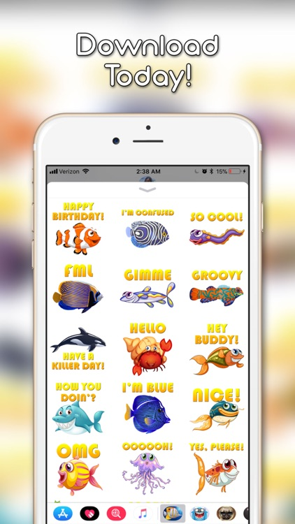 Fish Emoji and Photo Stickers screenshot-4