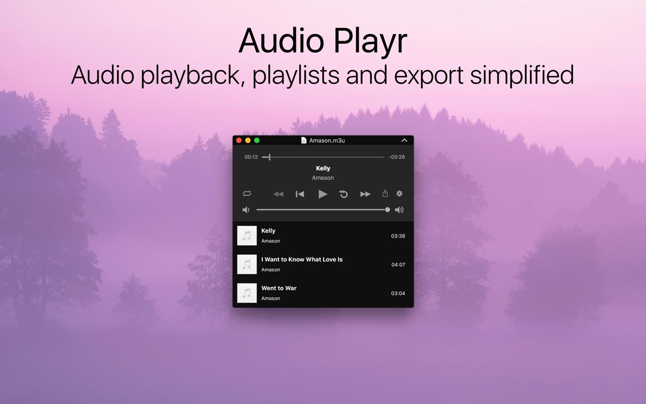 Audio Playr 2.3.1 Mac 破解版 音频播放与导出工具