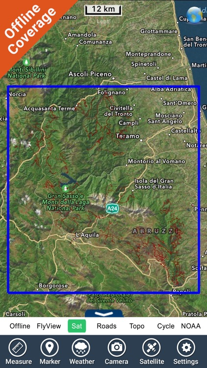 Gran Sasso e Monti della Laga NP GPS chart screenshot-4