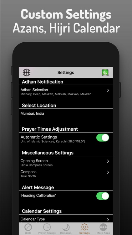 Islamic Qibla - Prayer Times screenshot-4