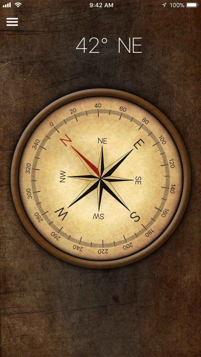 Compass for iPhone, iPad Screenshot