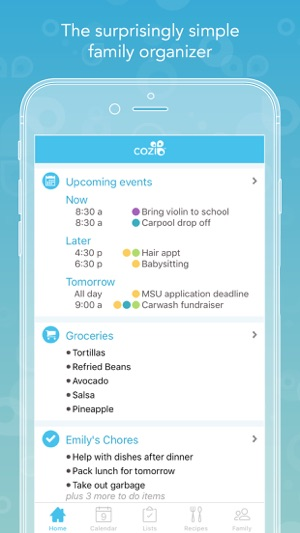 Cozi family organizer on the app store screenshots solutioingenieria Image collections