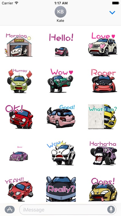 Animated Car CarMoji Sticker