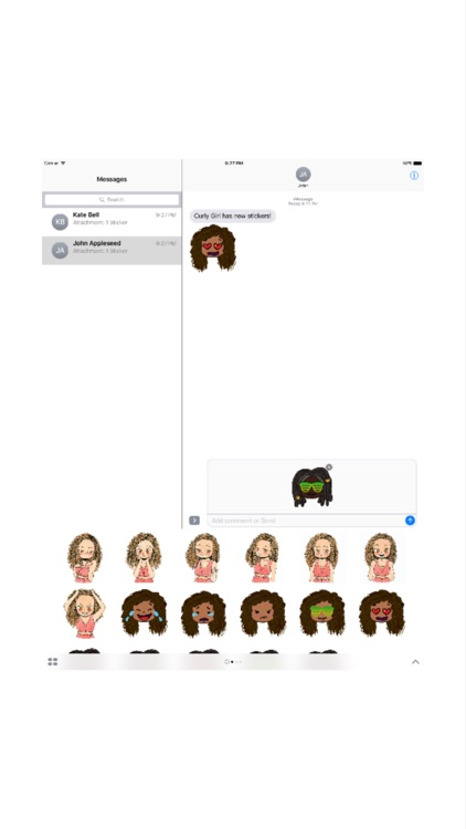 CurlyGirlMoji screenshot-3