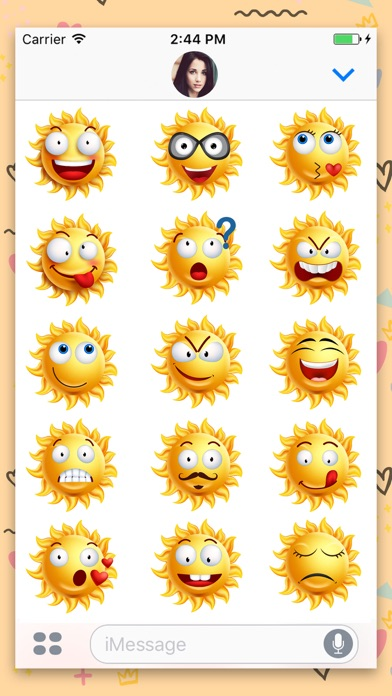 Sun Face : Animated Stickers screenshot three