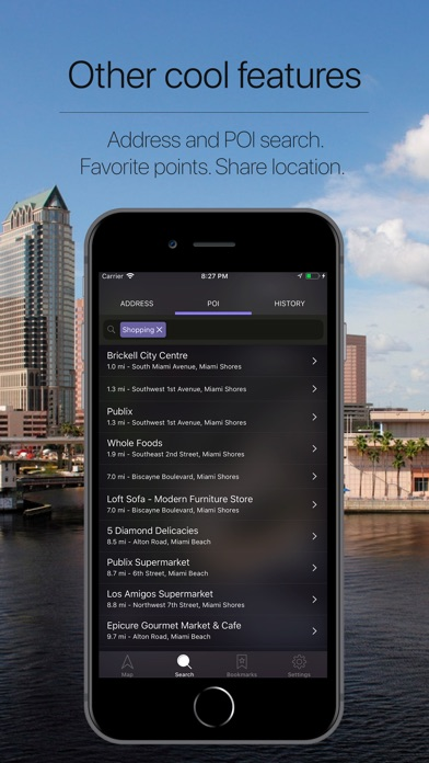 Florida, US Offline Navigation Screenshot