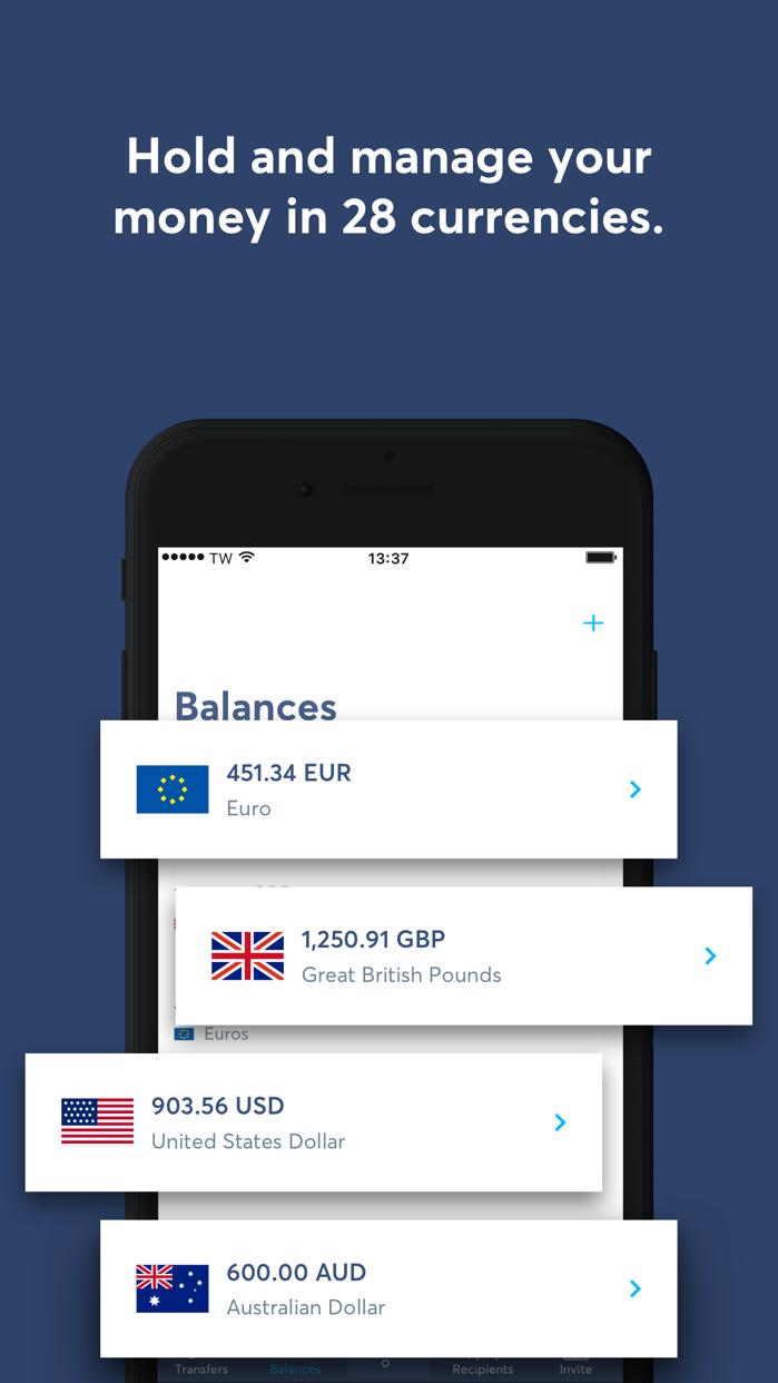 TransferWise Money Transfer Screenshot