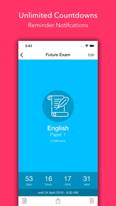 Exam Countdown Lite screenshot two