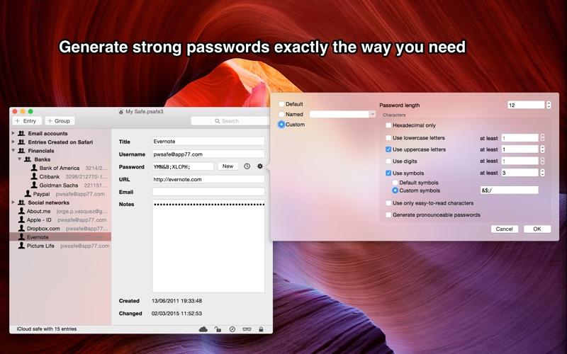 点击获取pwSafe - Password Safe