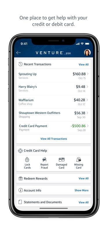 capital one credit card login app